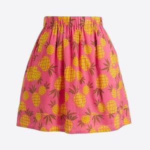 J. Crew Pineapple Mini skirt